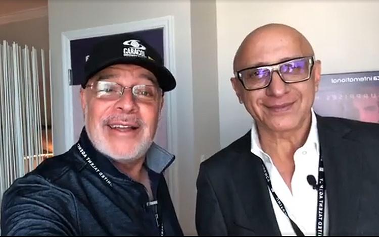 Con Alberto Ciurana desde Natpe