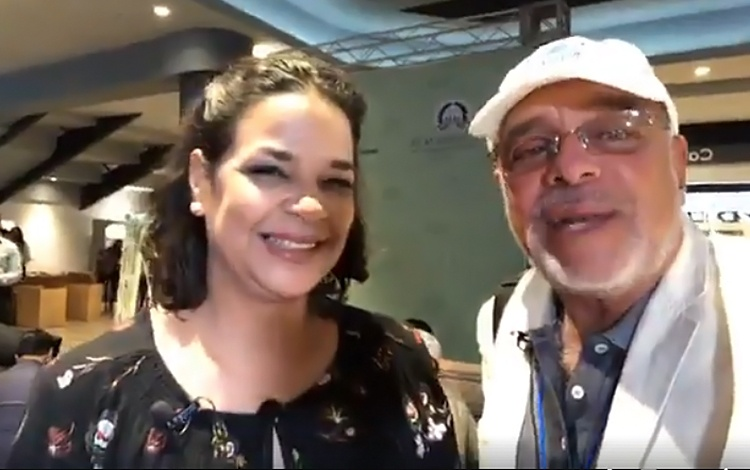 Con Yvette Marichal de la dirección de Cine d...