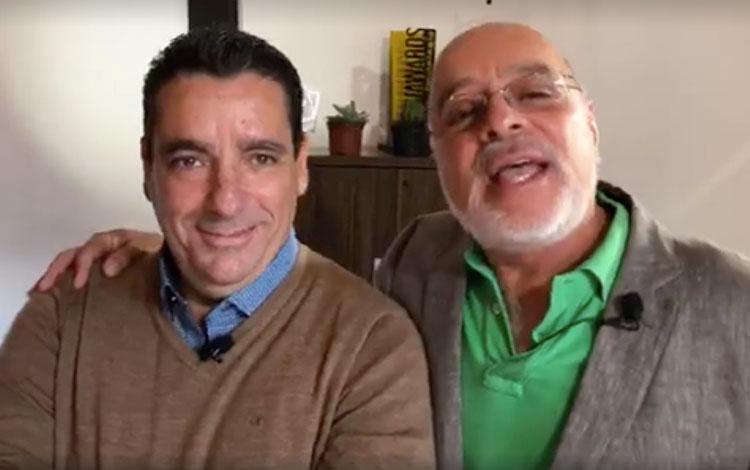Con Carlos Lopez, VP de Mercadeo y Comunicaci...