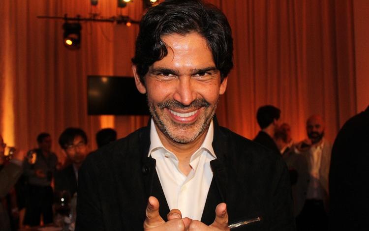 Con Marcos Santana presentando el primer proy...