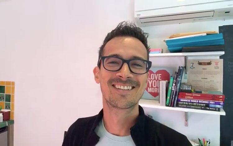 Con Juan Camilo Ferrand desde su estudio en M...