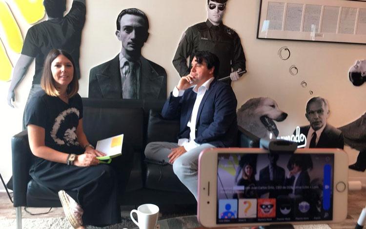 Con Juan Carlos Ortiz,  president  DDB Latina...