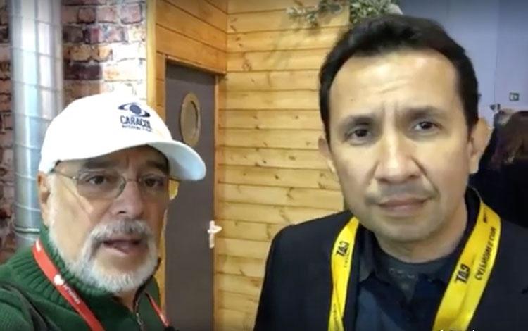 Con Juan Carlos Ortiz de Bullitt, fabricante ...