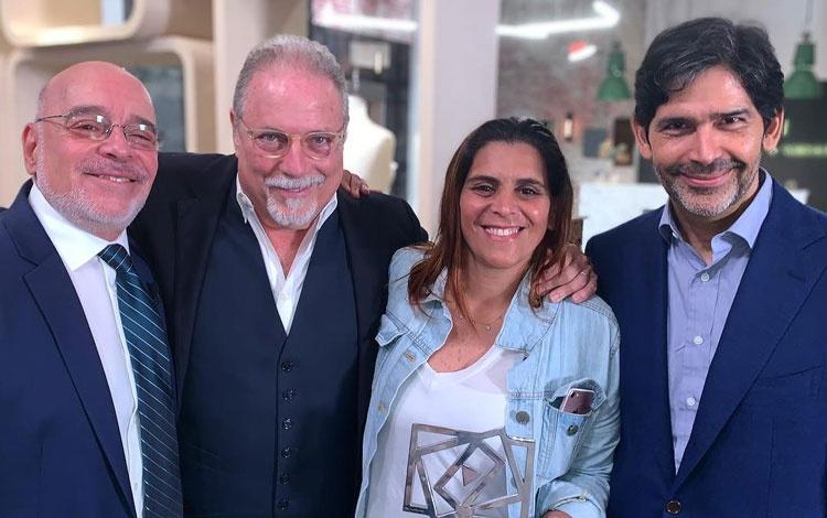 Con Marcos Santana presidente de Telemundo Gl...