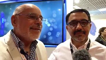 Con Patricio Hernández, CEO de MEGA de Chile,...