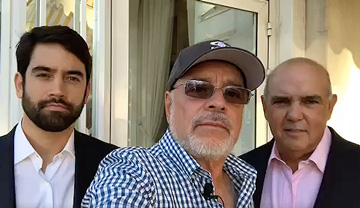 Con Luis Villanueva, CEO del grupo Somos, y s...