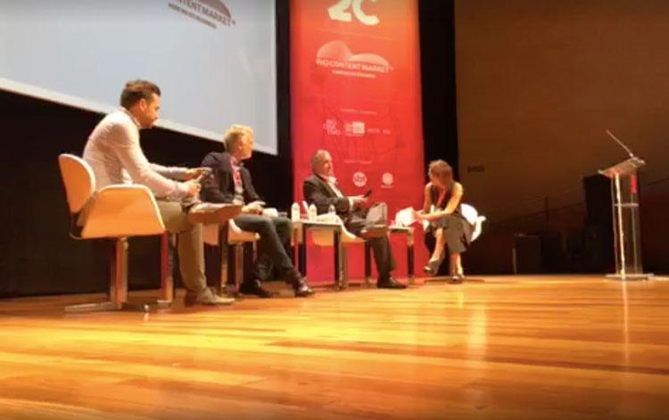 Con T.C. Schultz de Sony, Luis Peraza de HBO ...