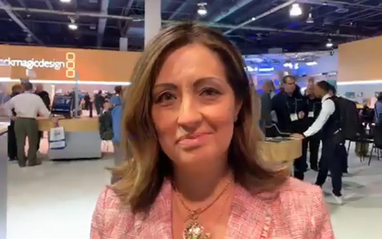 Con Mabel Mompó gerente general de INTEKTV de...