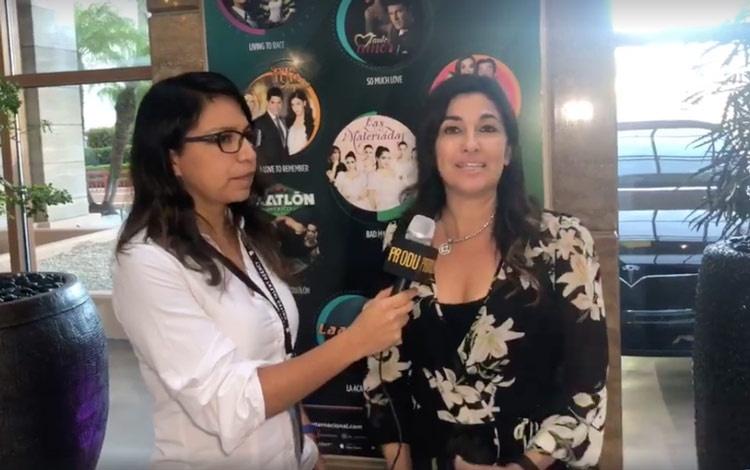Con Patricia Jasín VP de TV Azteca Internacio...
