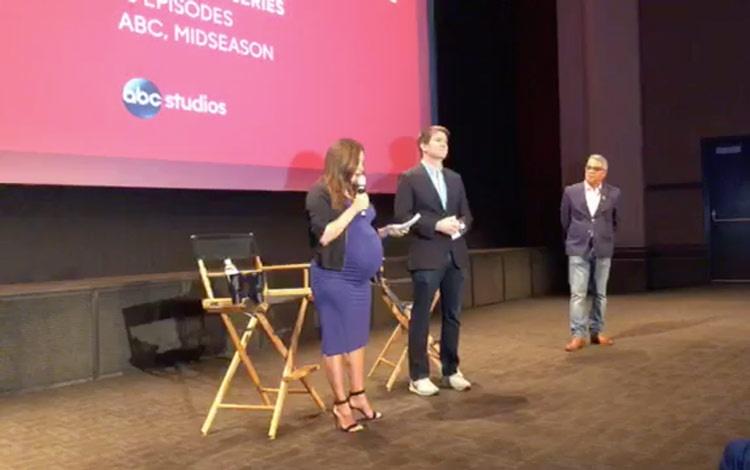 Con Eva Longoria desde  screening de Di...