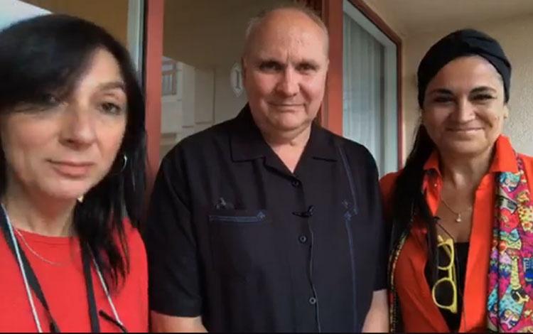Con Cecilia Gómez de la Torre y Eric Jürgense...