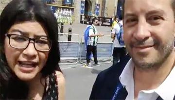 Con Ernesto López, VP sénior de Programación ...