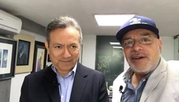 Con Carlos Alberto Sánchez-Vega, fundador y C...
