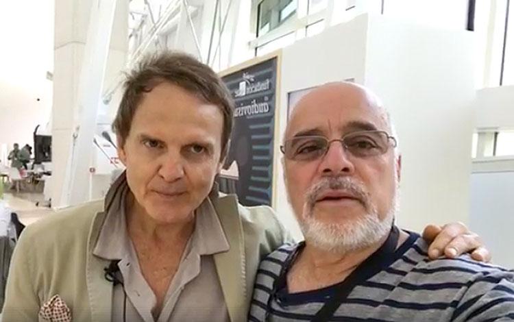 Con Pato Rabuffetti de Non Stop, desde Santia...