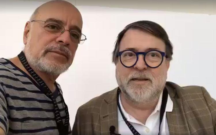 Con Jaime de Aguirre, director de TVN Chile, ...