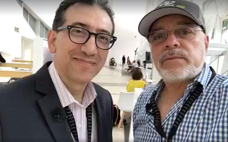 Con Mario Muñoz, director de Innovación y Ben...