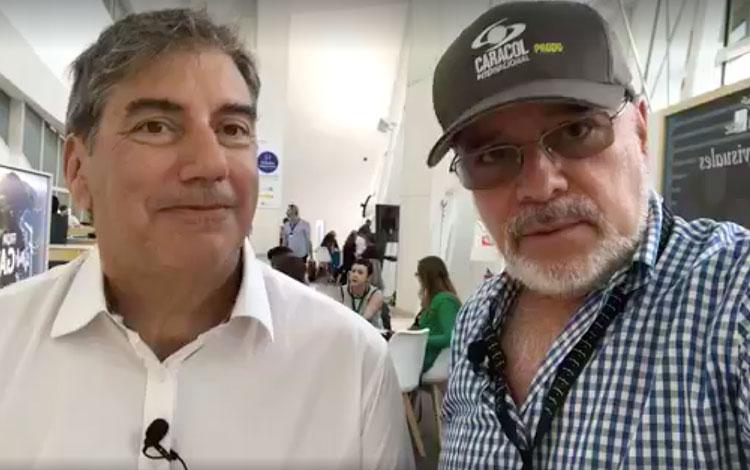 Con Ralph Haiek, presidente del INCAA, desde ...