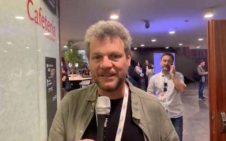 Con el director Alejandro Bazzano