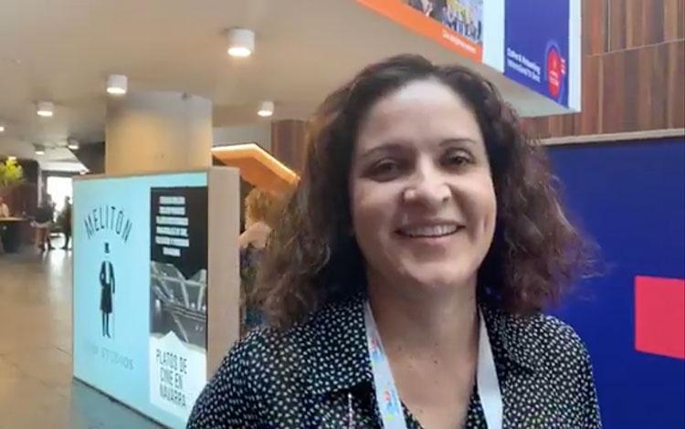 Con Ana Paula Valdovinos VP de Telemundo Inte...