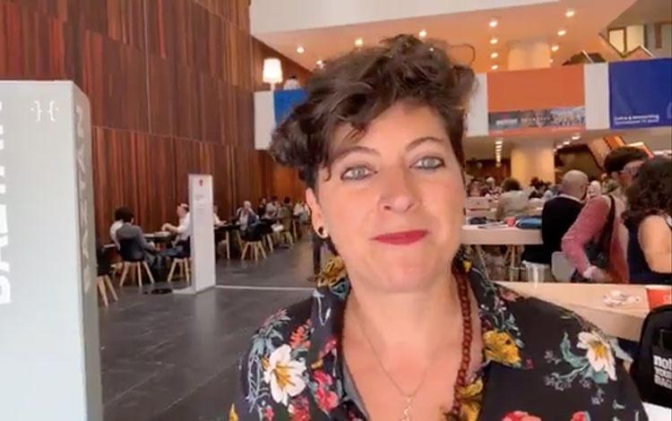 Con Ana Piñeres de ASOCINDE, EGEDA y CMO Prod...
