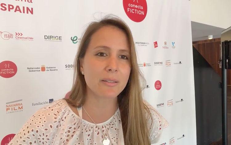 Con Catalina Porto de La Productora de Caraco...