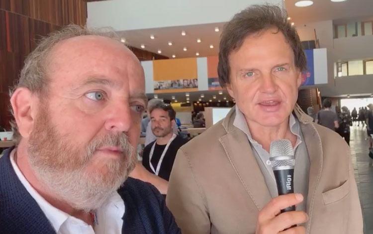 Con Javier Pons de Mediapro Studios y Patrici...