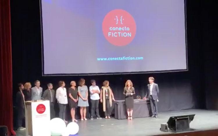 En Conecta Fiction con los ganadores del PITC...
