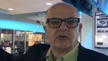Con Rubén Keoseyán, VP de Contenido de Telemu...