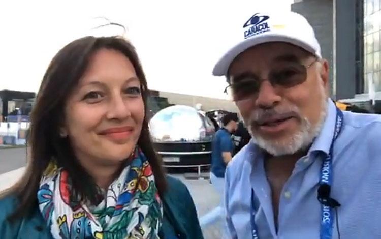 Con Yamila Montoya productora de la TV Públic...
