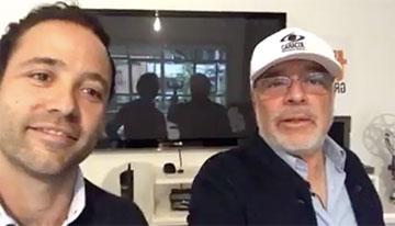 Con Pedro Dávila, directivo de Nonstop y fund...