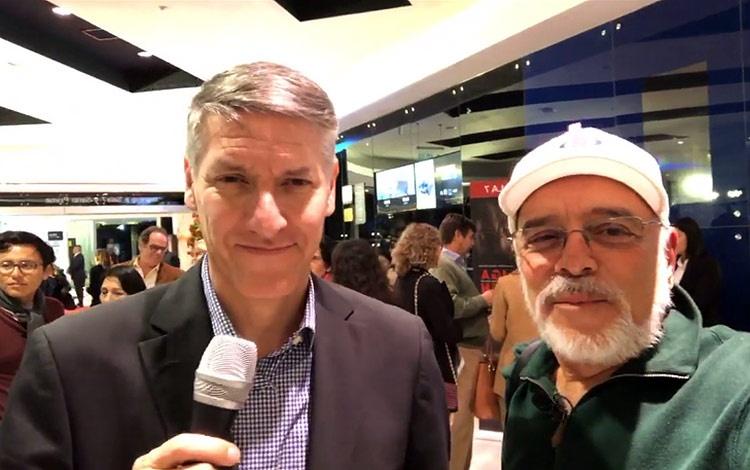 Con Jorge Licetti gerente de New Century Film...