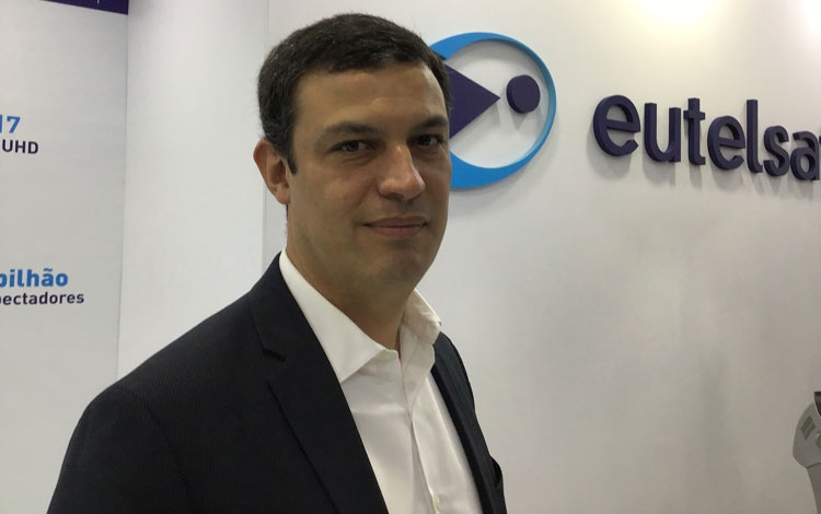 Con Rodrigo Campos de Eutelsat