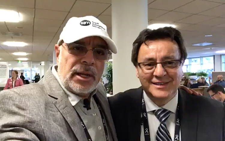 Con Adriano Bedoya de Sony Professional Solut...