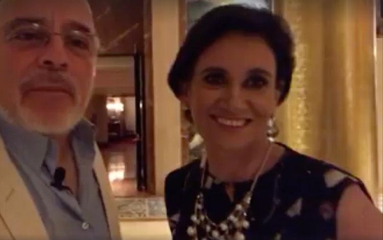 Con Eliana Venegas asesora de L'Oreal y panel...
