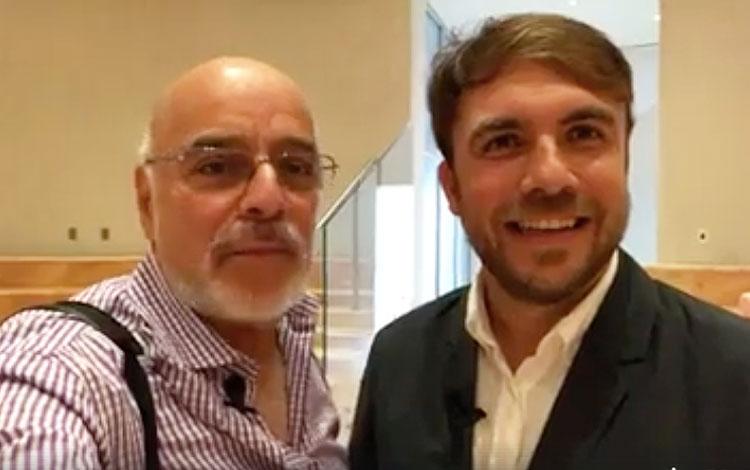 Con Davit Miró de PlayGround al anunciar hoy ...