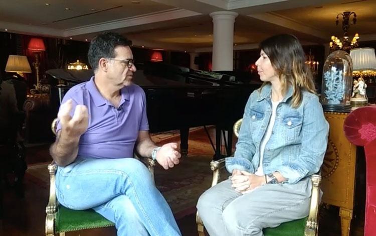 Con Sergio Valente, director de comunicacione...