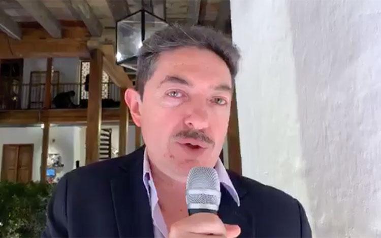 Actor Ernesto Benjumea en la fiesta de Caraco...