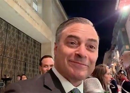 Alejandro Bernal de Caracol en la alfombra de...