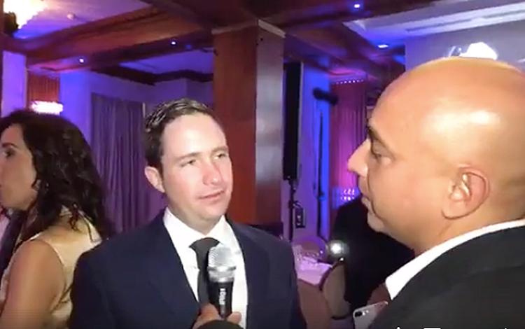 Con Benjamín Salinas en la cena de gala los 2...