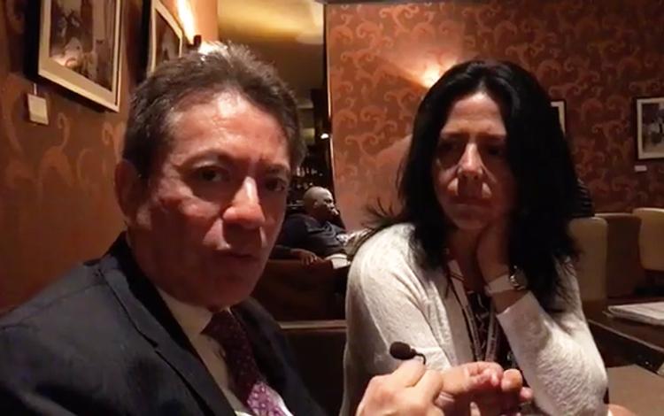 Con Carlos Alberto Sánchez y Alicia Flores di...