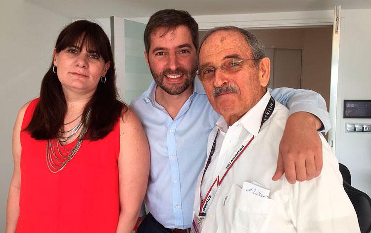 Con Pedro Leda, Alejandro Leda y Moira Mc Nam...