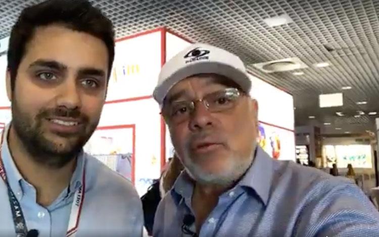 Con Miguel García ejecutivo de Ventas de Imag...