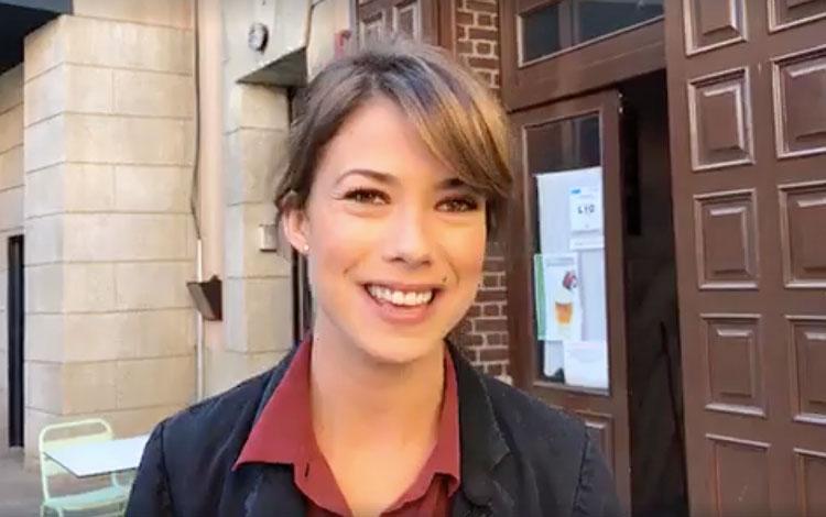 Con Andrea del Río actriz española protagonis...