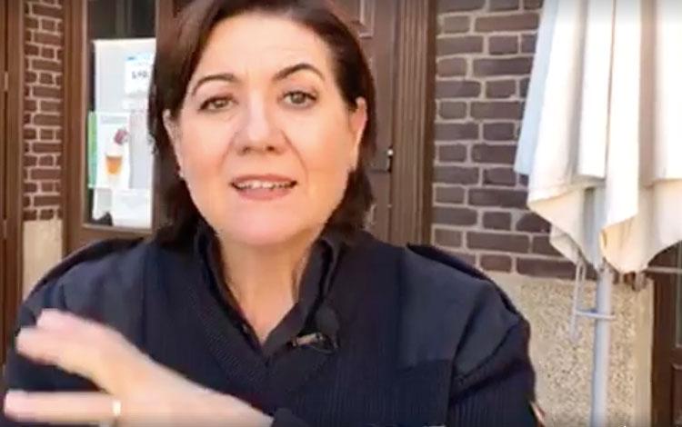 Con la actriz Luisa Martín, protagonista de  ...