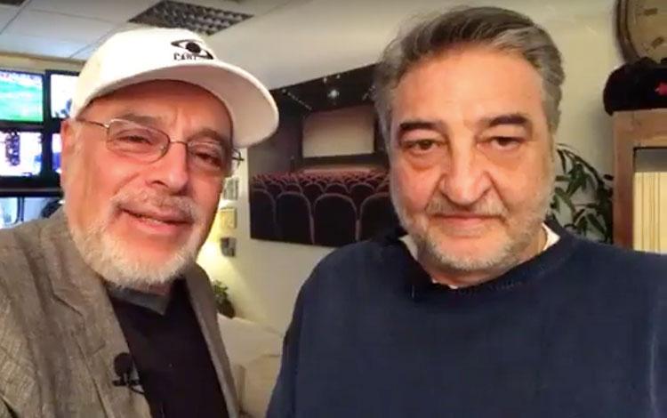 Con César Benítez, fundador de la productora ...