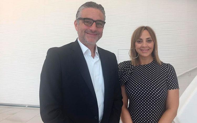 Con Edgar Spielmman y Mariana Pérez de FOX