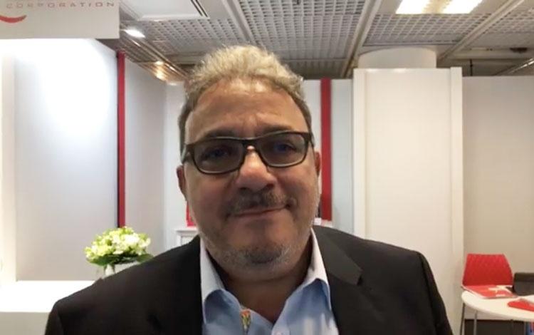 Con José Escalante de Latín Media desde Mipco...