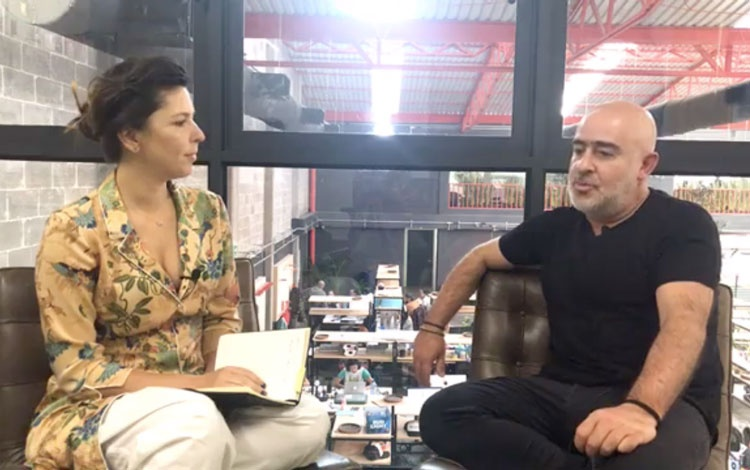 Con Raul Cardos, fundador de (anónimo)