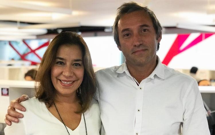 Con Verónica Hernández y Checha Agost Carreño...
