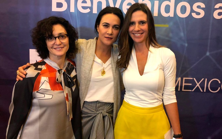 Con Coty Cagliolo de Fremantle MX, Érica Sánc...